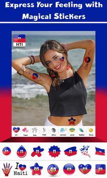 Haiti Flag Face Paint - Crystal Clear Photography screenshot 3