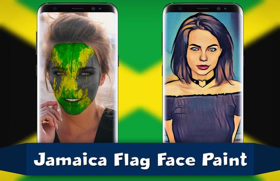 Jamaica Flag Face Paint - Touchup Photography poster