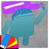 Purple Explosion - White Nav (Xperia) icon