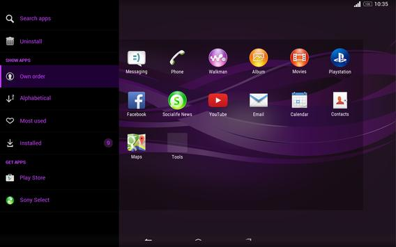 Purple Explosion - White Nav (Xperia) screenshot 8