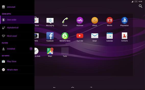 Purple Explosion - White Nav (Xperia) screenshot 12