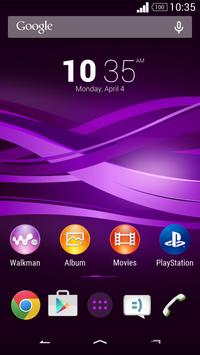 Purple Explosion - White Nav (Xperia) screenshot 2
