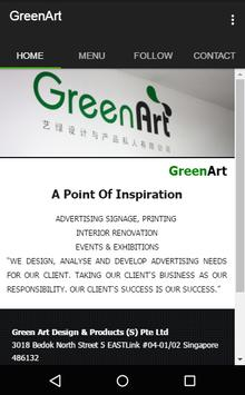 Green Art Design And Products poster