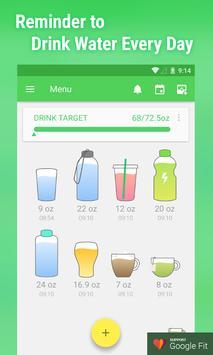 पानी पीने का रिमाइंडर पोस्टर