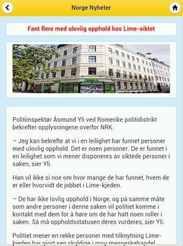 Norge Nyheter apk screenshot