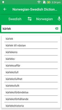 Norwegian Swedish Dictionary poster