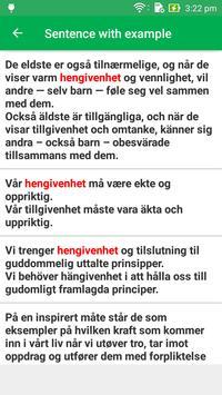 Norwegian Swedish Dictionary screenshot 3