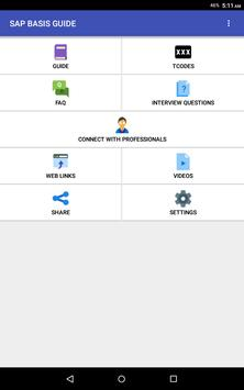 SAP BASIS GUIDE apk screenshot