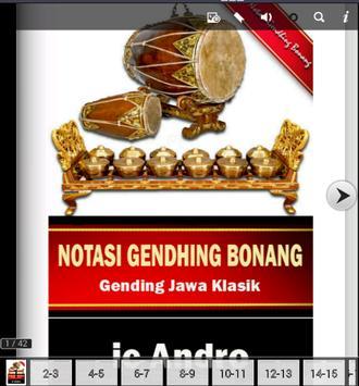 Notasi Gending Bonang poster