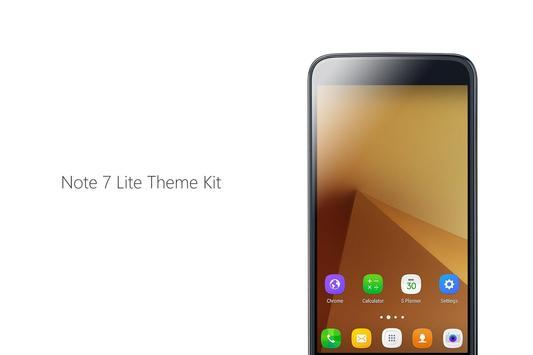 Note 7 lite theme kit apk screenshot