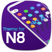 Theme for Note 8 Galaxy icon