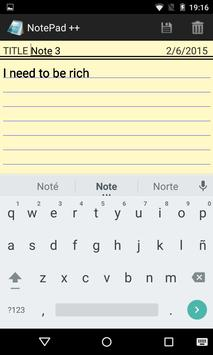 Notepad ++ for Android screenshot 2