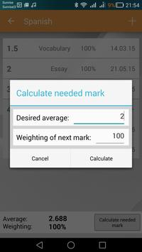 School Marks Manager apk screenshot