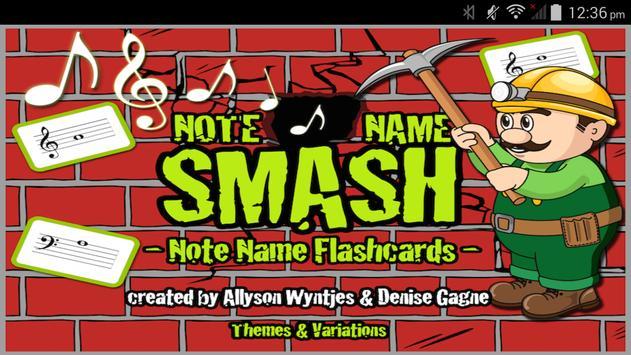 Note Name Smash poster