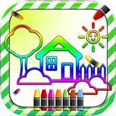 Coloring Book Game For Kids icon