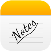 Notes For i Phone 8 icon