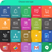 Notes App ,Task manager and Instant apps launcher icon