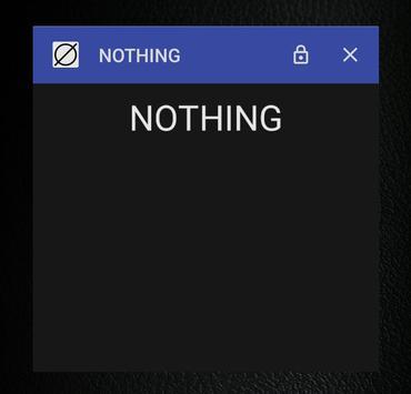 NOTHING apk screenshot