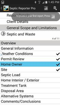 Septic Reporter Pro Demo apk screenshot