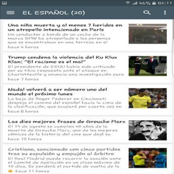 Noticias en España screenshot 2