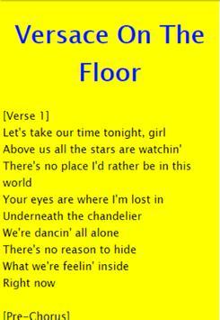 Versace On The Floor - Bruno Mars apk screenshot