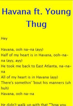 Havana - Camila Cabello ft. Young Thug apk screenshot