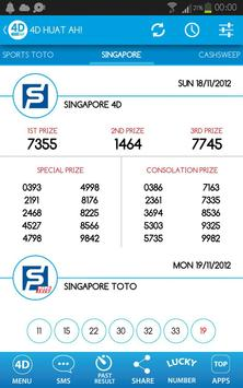 4D Huat Ah! Results (MY & SG) apk screenshot