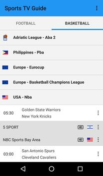 Sports TV Guide screenshot 2