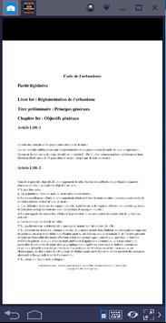 CODE DE L'URBANISME apk screenshot