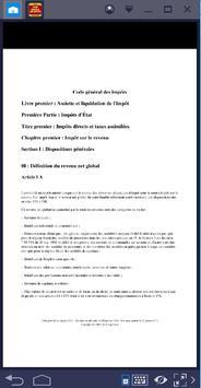 Code général des impôts screenshot 1