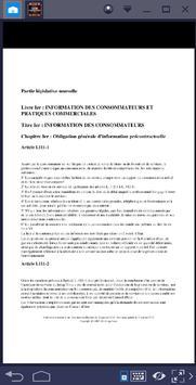 CODE DE LA CONSOMMATION screenshot 1