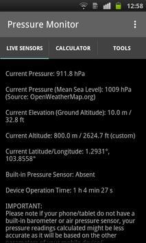 Pressure Monitor Sensors APK Download Free Tools APP For - Current elevation app