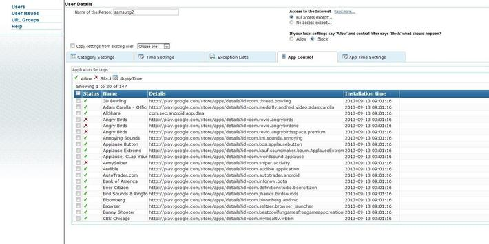 Web Filter with App Control screenshot 3