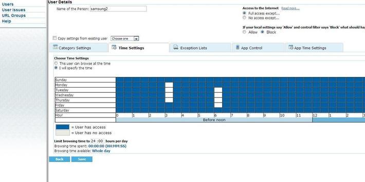 Web Filter with App Control screenshot 2