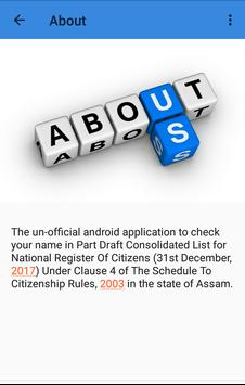 Complete Draft NRC Assam : Search Your Status screenshot 5