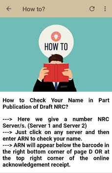 Complete Draft NRC Assam : Search Your Status screenshot 6