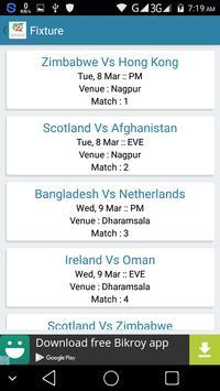 T20 World Cup 2016 Schedule apk screenshot