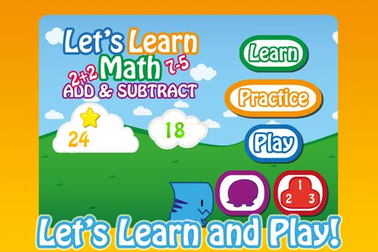 Let's Learn Math Add&Subtract poster