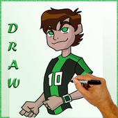 How to Draw Ben 10 icon