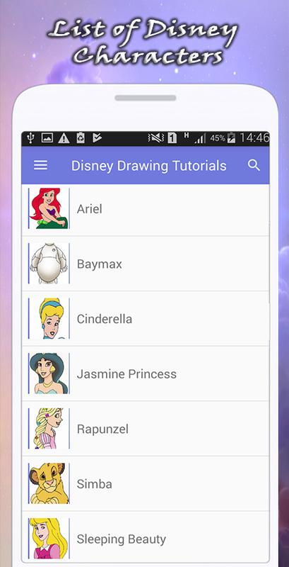 Character Design Apps For Android : How to draw disney characters apk download free art