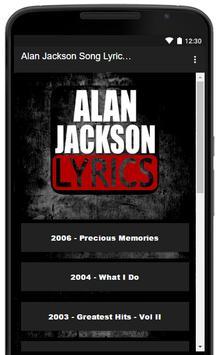Alan Jackson Song Lyrics Hits screenshot 1