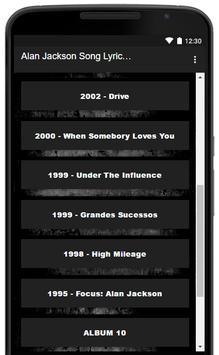 Alan Jackson Song Lyrics Hits screenshot 2