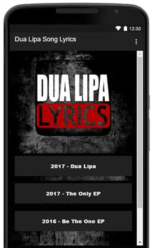 Hits Lyrics: Dua Lipa screenshot 1