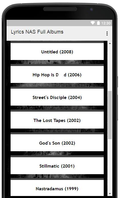 NAS Song Lyrics Full Albums for Android - APK Download