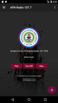 Armed Forces Of Nigeria Radio 107.7FM poster