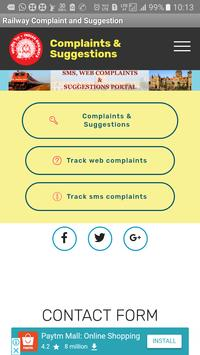 Indian Railway Complaint & Suggestion poster