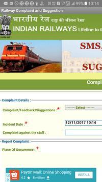 Indian Railway Complaint & Suggestion screenshot 2