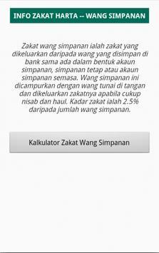 Kalkulator Zakat Wang Simpanan apk screenshot