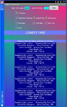 Flight Schedules & Fares apk screenshot