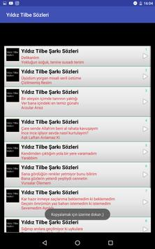 Yıldız Tilbe Sözleri apk screenshot
